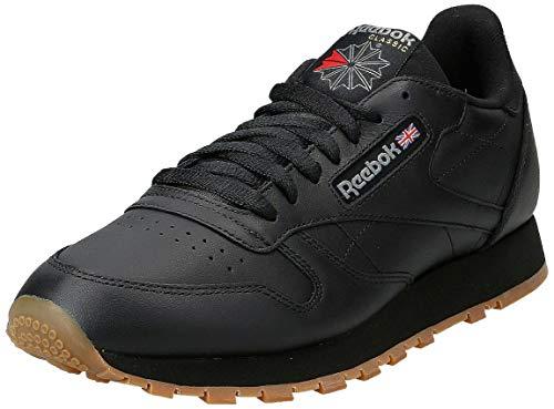 Reebok Classic Leather - Zapatillas de cuero para hombre, color negro black / gum 2, talla 42