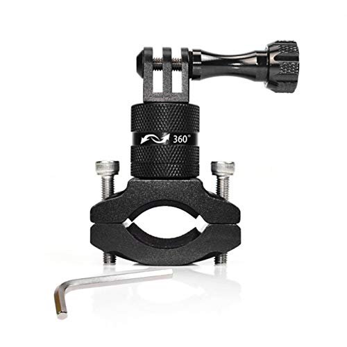 WOSOSYEYO Sport Action Kamera Halter Fahrradständer Halter Cam Mount 360 ° Drehung Aluminium Lenkerhalter für Go Pro Hero (Cam Pro Go Steady)