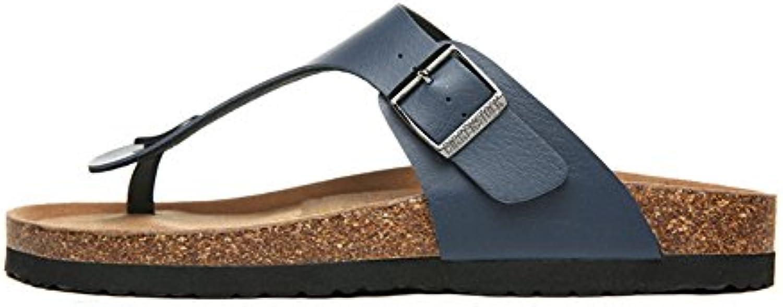 Herren Einriemer Sandalen Pantoletten Komfort Kork Hausschuhe Bett Sandalen Flach Outdoor Schuhe Sandalen Flip