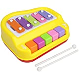 GANESH 5 Key Piano Organ And Xylophone Musical Toy With 2 Mallets For Kids Ages 3+ Years