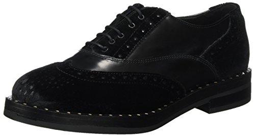 5643/10, Zapatos de Cordones Derby para Mujer, Negro (Nero 01), 38 EU Peperosa