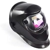 Casco de soldadura con oscurecimiento automático de energía solar, protección de cabeza completa, botón