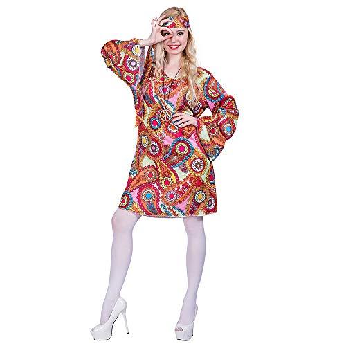 70er Jahre Kostüm Halloween - EraSpooky Damen 70er Jahre Hippie Kostüm Faschingskostüme Cosplay Halloween Party Karneval Fastnacht Kleid für Erwachsene