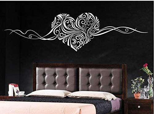 LovelyHomeWJ Romantisches Herz Abnehmbare Wandtattoo Dekoration Wandkunst Liebe Hochzeitsdekoration Mittelstücke Familie Aufkleber 150x40 cm