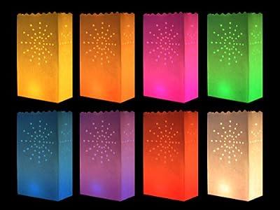 HAAC 10 Stück Lichttüte farbig bunt mit Motiv große Sonne NEU
