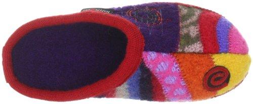 Haflinger Crazy 615033, Chaussons mixte adulte Rouge-TR-H4-3