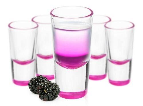 ariationen Tequilagläser Schnaps Shots Stamper Wodkagläser (Rosa) ()