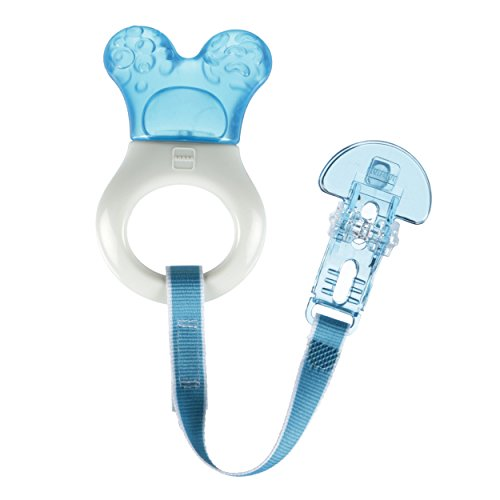 MAM Mini Teething Cooler and Clip, Blue, 2 Plus Months by MAM -