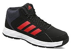 Adidas Mens Adi Rib W Cblack/Dkgrey/Scarle Basketball Shoes - 9 UK/India (43.33 EU)