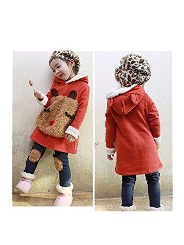 Malloom® Infant Kleinkind Baby Jungen Mädchen Warme Winter Tops + Hosen Casual Outfit Kleidung (orange, 130) (Kurzarm-formalen Shirts)
