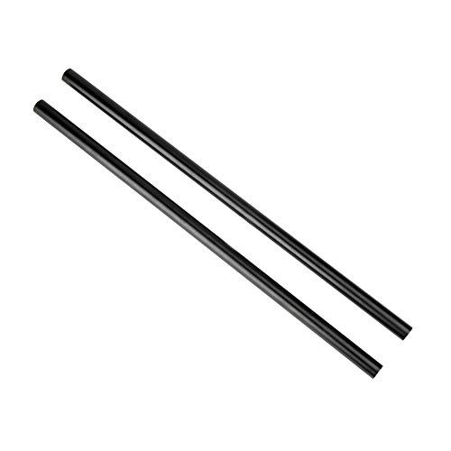 15 Mm Rod (NICEYRIG 15mm Rod Schwarz Aluminiumlegierung 40 cm 16 inch Lange für Schulter Rig Support System (2 Stück))