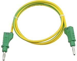Donau 2106 Elektronik - Cable de Red (1 m), Color Amarillo y Verde