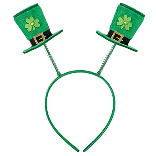 (UEVOS Stirnband Damen Kopfband Niedlich St. Patrick's Day Green Irish Erwachsene Haarschmuck Festival Kleeblatt Regenbogen-Tiara)