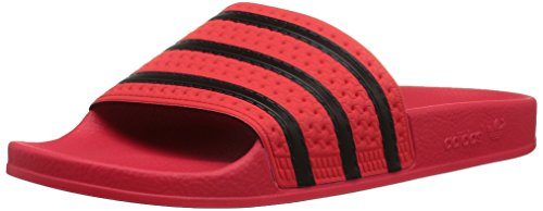 adidas Originals Men's Adilette Sneaker, core Black, Real Coral s, 11 M US