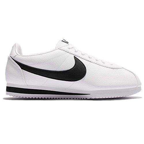 Nike Jungen Classic Cortez Leather Laufschuhe Weiß / Schwarz