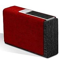 سماعات ستريم بوكس بتصميم بلوتوث لا سلكي مزودة براديو انترنت ديجيتال، مايكروفون داخلي، قارئ بطاقات اس دي، مدخل يو اس بي، مدخل اوكس من بروميت - اكس لارج (احمر)