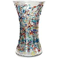 Vaso Reflex Jazz 250 Vetro dipinto a mano Murano Style Venezia