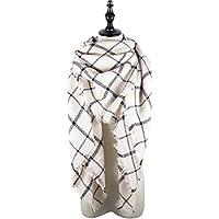 Zando Plaid coperta spessa inverno sciarpa Tartan grosso Wrap oversize scialle del capo