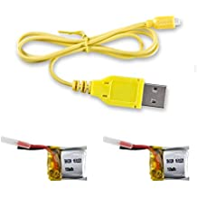 CX-10 Spare Part 2pcs 3.7v 100mAh Batteries and 1 USB Charger Cable for Cheerson CX-10 Rc Quadcopter