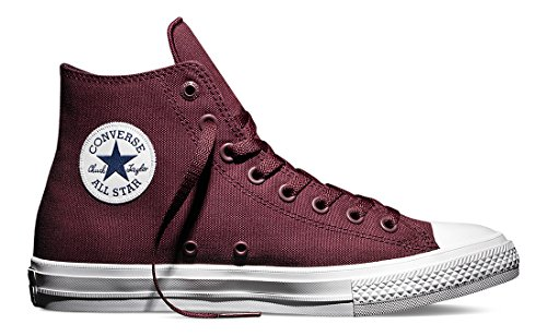 Converse Unisex-Erwachsene Sneakers Chuck Taylor All Star Ii C150143 High-Top Rot (Deep Bordeaux/white/navy)