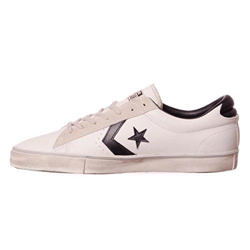 Converse - Converse Pro Leather Vulc Distressed Ox Sneaker Herren Weiss Star White/Black/Vaporous Grey
