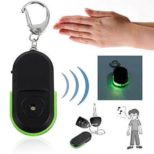Ballylelly Portable Taille Old People Anti-Perdu Alarme Détecteur De Clé Sans Fil Utile Sifflet Sound LED Localisateur de Lumière Chercheur