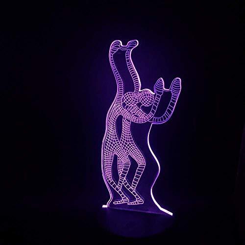 Zycx-light Veilleuses/Yoga Creative Dance 3D Lampe Nuit Lumière USB LED Lampe Humeur Fée Lumière Lampara Luminaria Rvb Éclairage Acrylique Table Room Decor