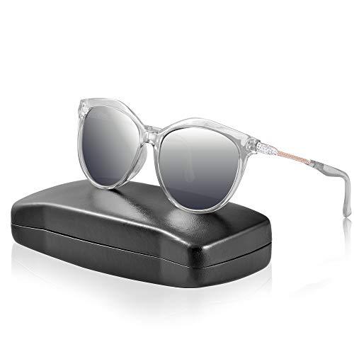 ipow Polarisierte Sonnenbrille mit Diament-Design, retro Damen 100% UV Schutz Sonnen Brille/Gradient Linsen - grau ...