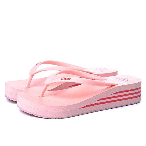 Estate Sandali Sandali estivi multicolori Pantofole antiscivolo in plastica femminile Nero, Blu-1, Blu-2, Marrone, Rosa, Rosso, Giallo Colore / formato facoltativo Rosa