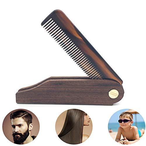 WYGC COMB Bartkamm Tragbar Holzgriff Acetat FaltenKunststoff Kamm Schnurrbart-Kamm Styling-Werkzeuge Verwenden Sie für die Pflege und Kämmung von Haaren, Bärten und Schnurrbärten (Farbe : Brown)