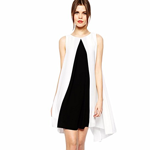 nero-senza-maniche-bianco-della-rappezzatura-offerta-bordo-irregolare-vestito-allentato-casuale