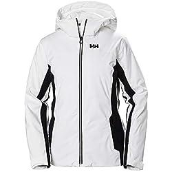 Helly Hansen Majestic Warm Aislado Chaqueta de Esquí, Mujer, White, XL