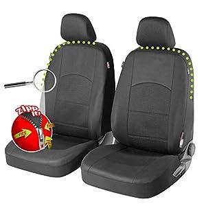 Walser 11846 Zipp-IT Premium Derby Autositzbezüge für Vordersitze mit Reißverschluss System