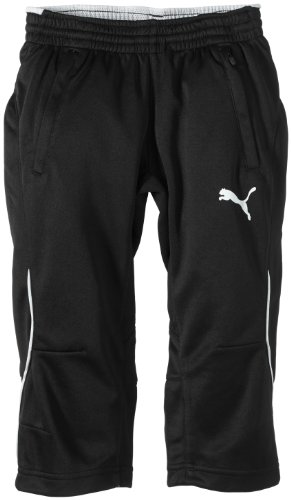PUMA Kinder Hose 3/4 Training Pants Black/White, 152 -