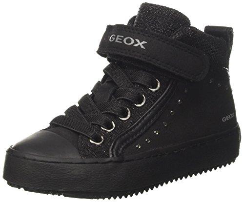 Geox Mädchen J Kalispera Girl I Hohe Sneaker, Schwarz (Black), 28 EU (Junior-mädchen Freizeitschuhe)