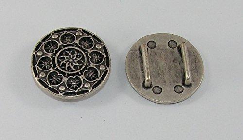 1 Zierplatte Metall Applikatione Zierteil Trachten Mittelalter 05.10/644