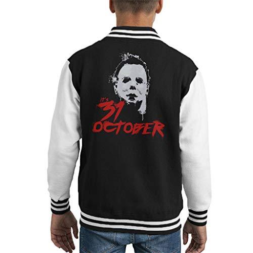 Cloud City 7 Halloween Michael Myers Its 31st October Kid's Varsity Jacket (Michael Halloween-city Myers)