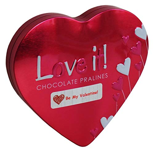 San valentino cioccolatini, cuore di amore, scatola di metallo 84g