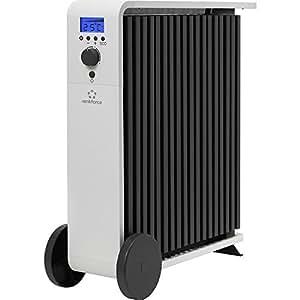 Radiateur Eco renkforce Luma 1500 1500 W noir, blanc