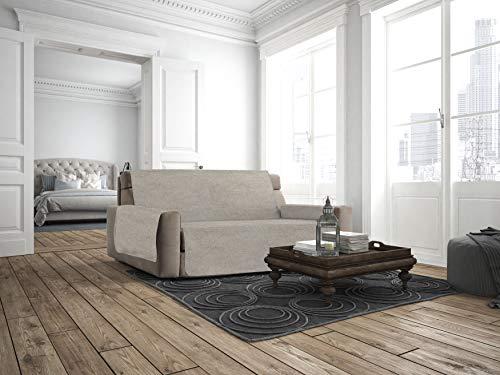 Italian bed linen copridivano antiscivolo comfort, beige, 3 posti