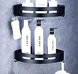 HHpcspc Bagno d'angolo Mensola Doccia Bagagli Durevole Supporto in Alluminio Shampoo Carrello mensole della Cucina Adesivo aspirazione Angolo (Size : B)