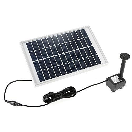 Hylotele Solar Wasserpumpe Power Panel Kit Brunnen Schwimmbad Garten Teich Quadrat 380L/H 5W
