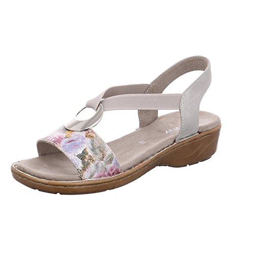Jenny Por Ara Córsega-iii Chão 22-57264-70 Mulheres Sandalette Esportes Branco