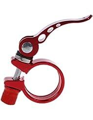 31.8mm Abrazadera Sillin Tija Cierre Rapido Asiento para Bici Bicicleta Rojo