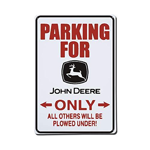 Diuangfoong Parking for John Deere Only Aluminiumblech, 30,5 x 45,7 cm (John Deere Parking)