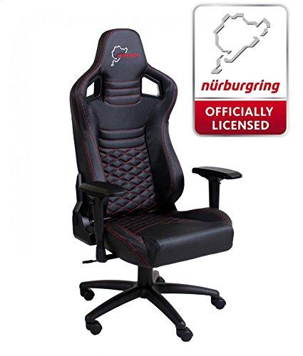 Speedmaster Chair Schwarz - Carbonfaser Optik - Nürburgring Edition - Gaming Stuhl - Office - Bürostuhl
