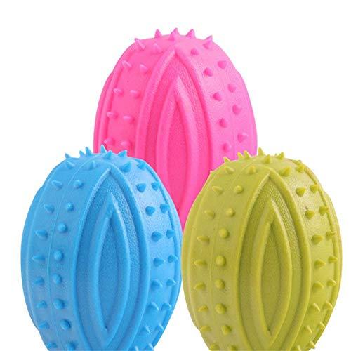 HUYDLD Heimtierbedarf Cute pet Dog Toys Gummi beständig zu beißen saubere zähne kauen Ausbildung Spielzeug für pet kleinen Hund zufällige Farbe -