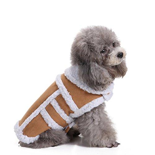 Kostüm Katze Brot (aisuper Warm Coat für Hunde Revers Wolle Winter Cozy massiv Pets Katzen Jacken Cute Fashion Puppy Kleidung Apparel Zwei Beinen 2Farben Gr.)
