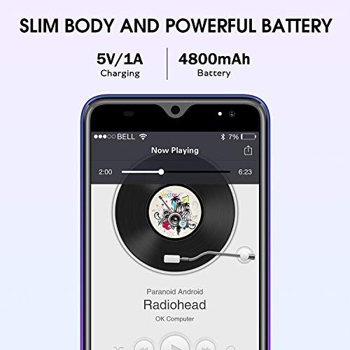 P30 Telephone Portable Debloqué 4G, 3Go RAM 16Go ROM Android 9.0 Quad Core Smartphone Pas Cher 4800mAh Batería 13MP Caméra 5.5 Pouces HD Dual SIM Face ID Empreinte Digitale Smartphone Débloqué(Violet)