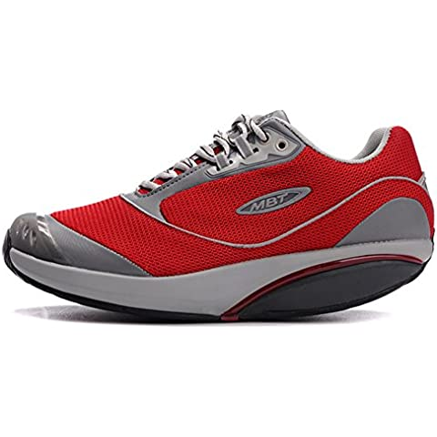 Donna fora Red Breathable Walking Shoes Trail Casual Running Fitness